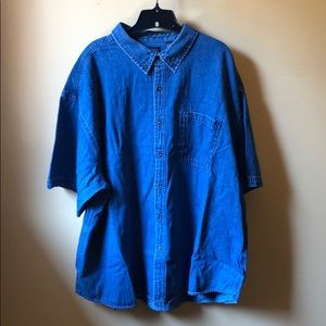 Men's Faded Glory denim S/S shirt size 3XL